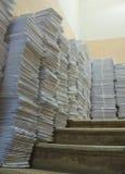 Sobres de papel del poste fotografía de archivo
