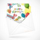 Sobres postales con la tarjeta de felicitación libre illustration