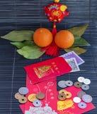 Sobres rojos por Año Nuevo chino feliz foto de archivo libre de regalías