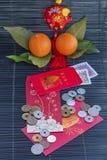 Sobres rojos por Año Nuevo chino feliz imagen de archivo libre de regalías