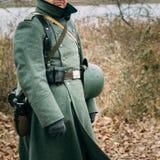 Sobretudo de um soldado alemão da segunda guerra mundial foto de stock