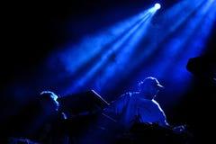 Sobreviva à faixa da música eletrônica executam no concerto no som 2017 de primavera foto de stock royalty free
