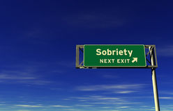 Sobriety - Freeway Exit Sign Stock Photography