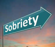 Sobriety sign concept. Royalty Free Stock Image