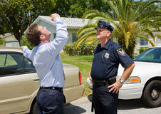 Sobriety Test - Skeptical Stock Images