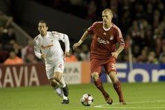 SOC: Champions League - Liverpool vs Debreceni VSC Royalty Free Stock Image