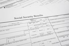 Soc Sec benefits Stock Photos
