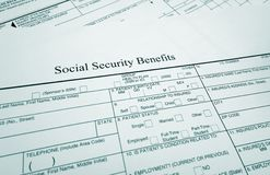 Soc Sec benefits Stock Images