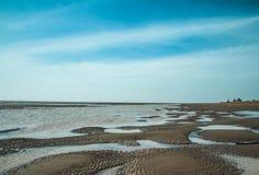 SOC TRANG, VIETNAM - 19. Januar 2014 - Welle des Sandes an Ho Be-Strand, Soc Trang, Vietnam Lizenzfreies Stockbild