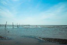 SOC TRANG, VIETNAM - 19. Januar 2014 - Welle des Sandes an Ho Be-Strand, Soc Trang, Vietnam Lizenzfreie Stockfotografie