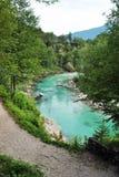Soca flod Arkivfoto
