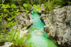 Soca flod Arkivfoton