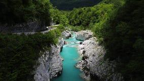 Soca-Fluss in den julianischen Alpen, Slowenien Lizenzfreies Stockbild