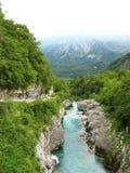 Soca-Fluss (Isonzo) stockbild