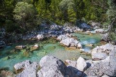 Soca/Isonzo river, Slovenia Royalty Free Stock Photos