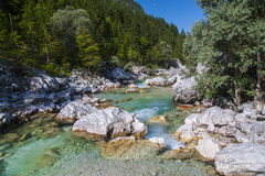 Soca/Isonzo river, Slovenia Royalty Free Stock Image