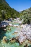 Soca/Isonzo river, Slovenia Royalty Free Stock Photo