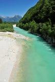 Soca/Isonzo river, Slovenia Stock Images