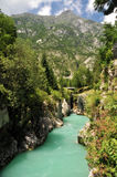 Soca/Isonzo river, Slovenia Royalty Free Stock Photos