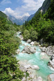 Soca/Isonzo river, Slovenia Royalty Free Stock Images