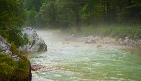 Soca / Isonzo river, Slovenia Stock Images