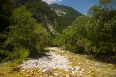 Soca / Isonzo river, Slovenia Stock Photos