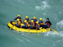 Soca rafting Stock Photography