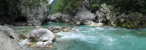 Soca river Stock Image