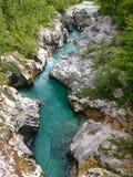 Soca river, Slovenia Royalty Free Stock Photos