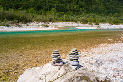 Soca river in Slovenia, Europe Royalty Free Stock Images