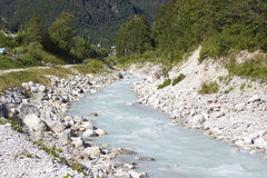 The Soca river, Slovenia Royalty Free Stock Photos