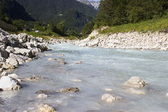 The Soca river, Slovenia Royalty Free Stock Image