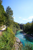 Soca river, Slovenia Royalty Free Stock Images