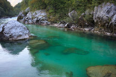 Soca river, Slovenia Royalty Free Stock Photo