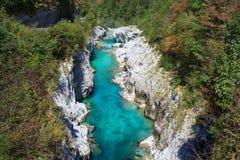 Soca river, Slovenia Stock Image