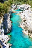 Soca river, Slovenia Royalty Free Stock Photos