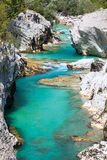 Soca river, Slovenia Royalty Free Stock Image