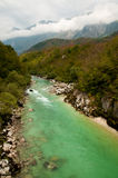 Soca valley. Of wonderful colours, full of waterfalls, pools, ravines and canyons stock images