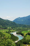 Soca Valley Near Kobarid Stock Photo