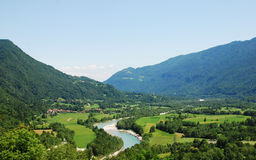 Soca Valley Near Kobarid Stock Photos