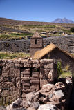 Socaire church. In Atacama desert near Bolivia - Chile Stock Images