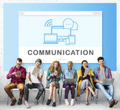 Socal Media Networking Online Connection Communication Concept Royalty Free Stock Photos