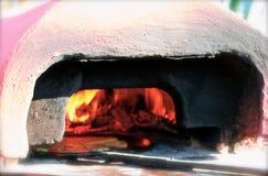 Socca oven on franco italian riviera Stock Image