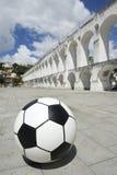 Socccer球橄榄球里约热内卢巴西 图库摄影