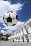 Socccer球橄榄球里约热内卢巴西 免版税库存照片
