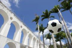 Socccer Ball Football Lapa Rio de Janeiro Brazil Stock Photo