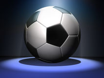 Soccer. Ball with spotlight background 3d Stock Photo