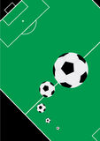 Soccer. Vector illustration for soccer balls and a stadium Royalty Free Stock Images