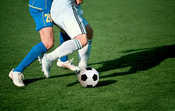 Soccer. Part of legs-soccer or football theme Royalty Free Stock Image