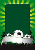 Soccer. Illustration of soccer banner with ball Royalty Free Stock Images